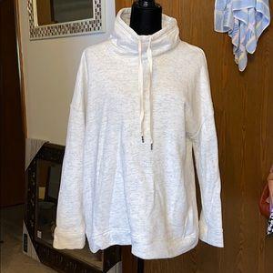 Cozy cream cowlneck sweatshirt